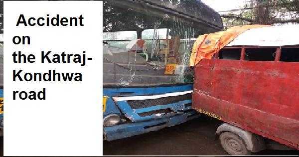 A horrific accident on the Katraj-Kondhwa road