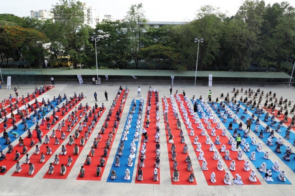 International Yoga Day in Azam Campus 2019