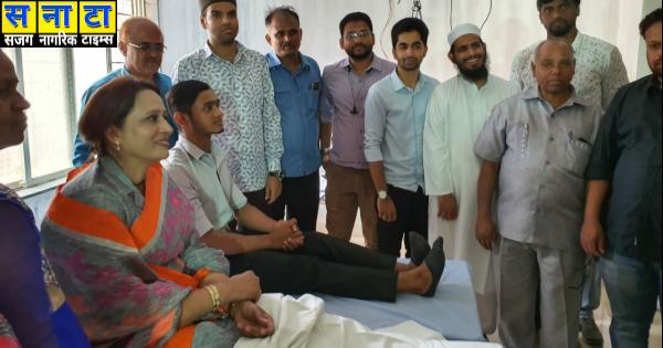 Wali Rahmani donated blood to the kondhwa 2019